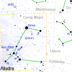 Aludra and Canis Major
