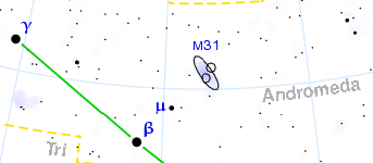location of Andromeda Galaxy