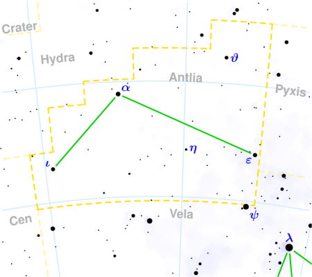 Antlia constellation