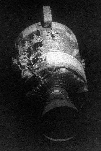 Damage to Apollo 13 Service Module