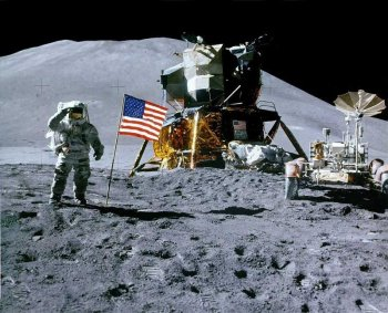 Apollo 15 Lunar Module on the Moon