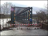 Bailey bridge, Langwathby, Cumbria