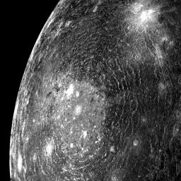 giant, multi-ringed impact basin on Callisto