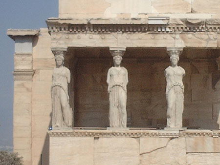 caryatides at the Acropolis in Athens