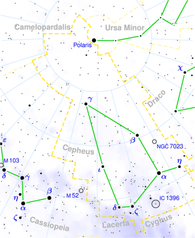 Cepheus constellation