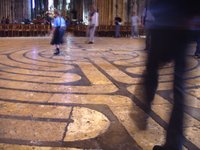 labyrinth in Chartres Cathedral