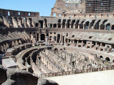 interior of the Colosseum in Rome