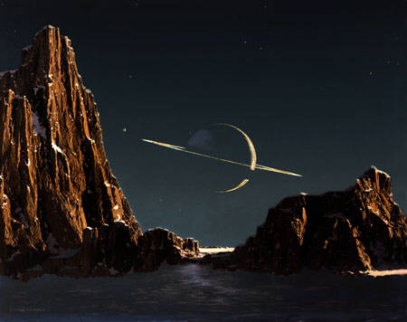 artwork by Chesley Bonestell