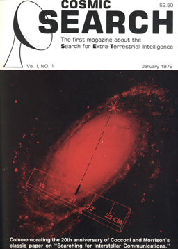 cover of first issue of Cosmic Search
