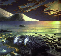 artist's concept of the primitive Earth