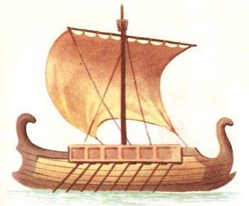 reconstruction of an Etruscan ship