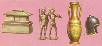 Etruscan tomb objects