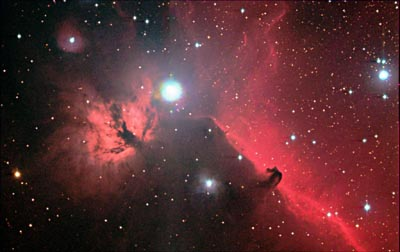 Flame and Horsehead Nebulae