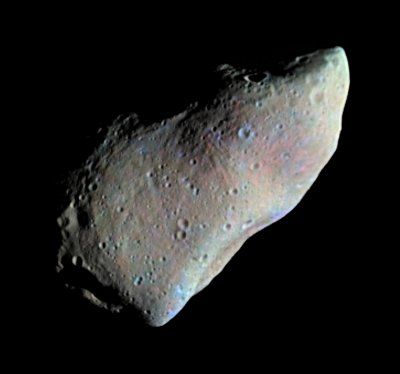 Asteroid Gaspra taken by the NEAR-Shoemaker probe as it flew by