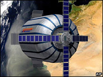 Artist impression of Genesis 1 in orbit