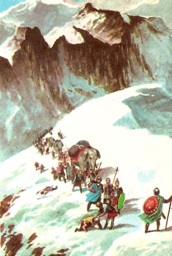 Hannibal crossing the Alps