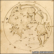 map of the Moon by Harriot