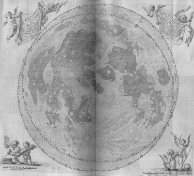Map of the Moon by Hevelius