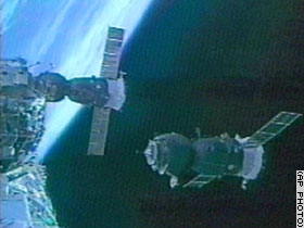 Soyuz docks with ISS