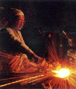 Japanese sword making