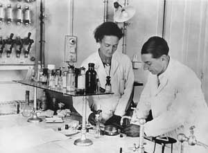 Irene and Frederic Joliot-Curie