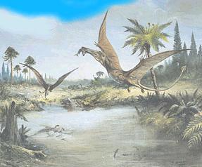scene from the Jurassic