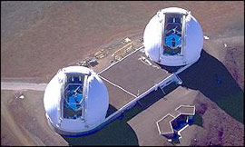 The twin Keck Telescopes