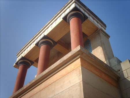 reconstruction of north entrance of Palace of Knossos