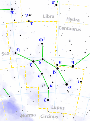 Lupus constellation