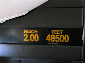 Concorde Mach speed indicator