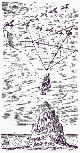 Illustration from The Man in the Moone