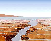 Artist concept of an ancient martian sea
