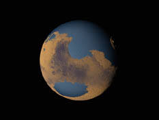 hypothetical ocean on Mars
