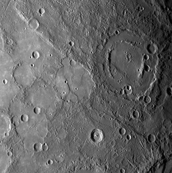 double-ringed crater on Mercury