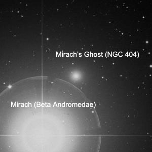 Mirach's Ghost (NGC 404) in visible light.
