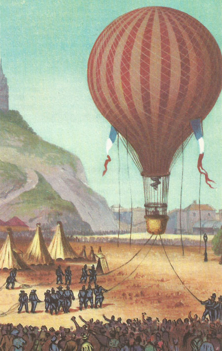 A captive balloon at Montmartre during the Franco-Prussian war