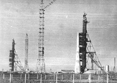 N-1 rocket on launch pad