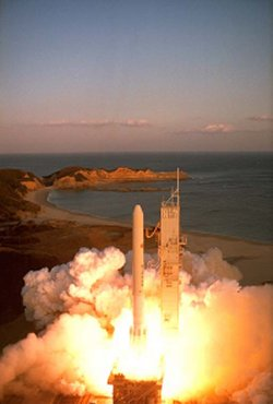 Japanese N-2 rocket launch