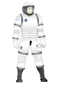 future spacesuit for use on Orion spacecraft
