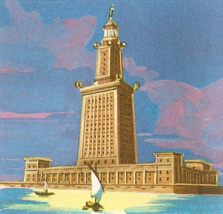 Artist's reconstruction of the Pharos at Alexandria