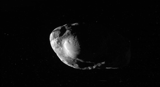 Prometheus imaged by Cassini in 2010