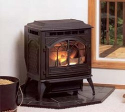Quadra-Fire Castile wood/corn burning stove