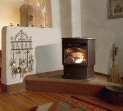Quadra-Fire Santa Fe wood/corn burning stove