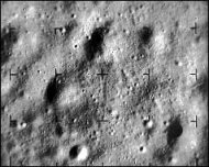 Image returned by Ranger 9 about three seconds before impact