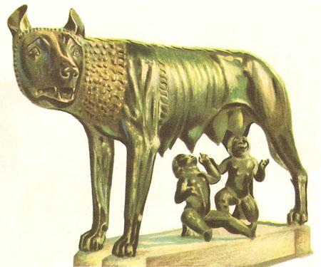 Romulus and Remus sculpture