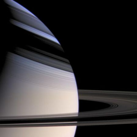 Saturn's rings and their shadow