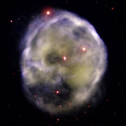 Skull Nebula (NGC 246). Image credit: Gemini South GMOS image/Travis Rector University of Alaska Anchorage