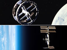Space Station V and the International Space Station