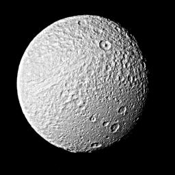 Tethys from Voyager 2