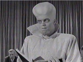 still from Twilight Zone episode 'To Serve Man'